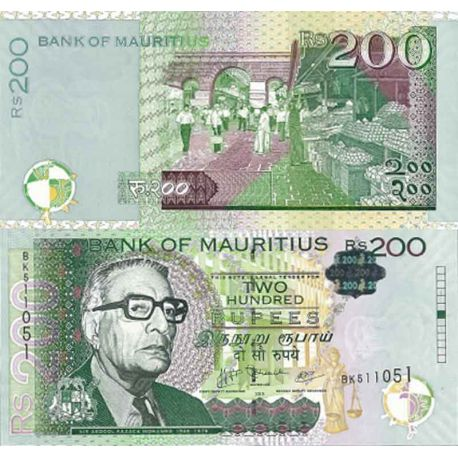 Billet de banque collection Maurice - PK N° 999 - 200 Ruppees