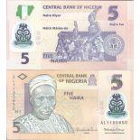 Billet de banque collection Nigeria - PK N° 38B - 5 Naira