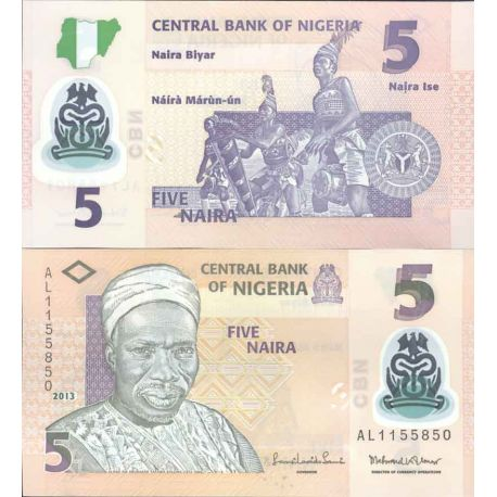 Billets de collection Billet de banque collection Nigeria - PK N° 38B - 5 Naira Billets du Nigeria 1,00 €