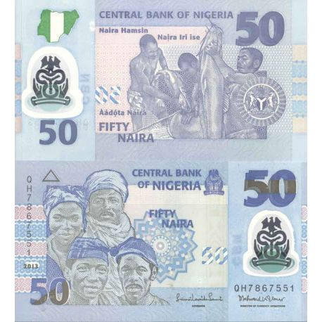 Billets de collection Billet de banque collection Nigeria - PK N° 40B - 50 Naira Billets du Nigeria 23,00 €