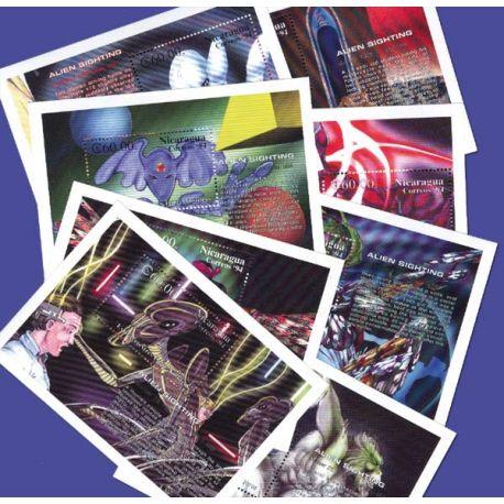 8 Blocs Extraterrestres du Nicaragua N° 225/27 + N° 231...