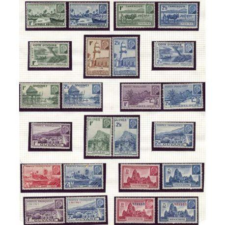 Grande série 1939 René Caillié 24 valeurs