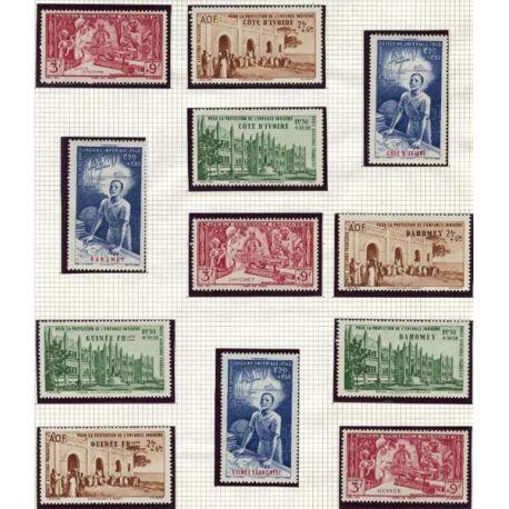 Grande série 1942 PEIQI 83 valeurs