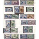Gran serie 1944 de Obras coloniales 48 valores
