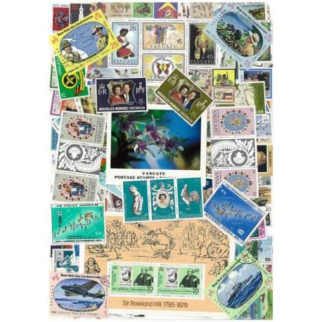 Neue Hebriden-Vanuatu - 25 verschiedene Briefmarken