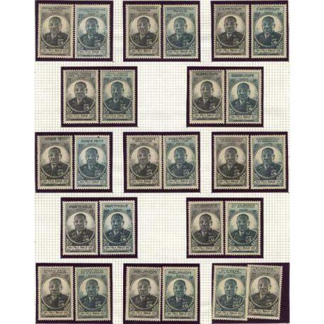 Grande série 1945 Félix Eboué 26 valeurs