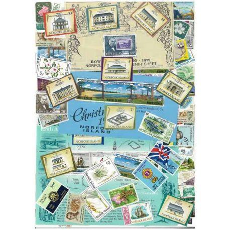 Norfolk - 10 verschiedene Briefmarken