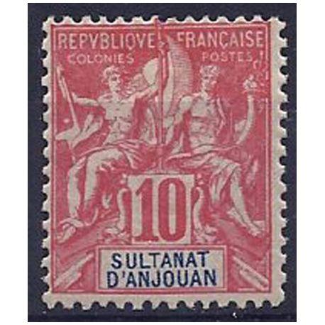 Timbre Anjouan N° 14 neuf avec charnière