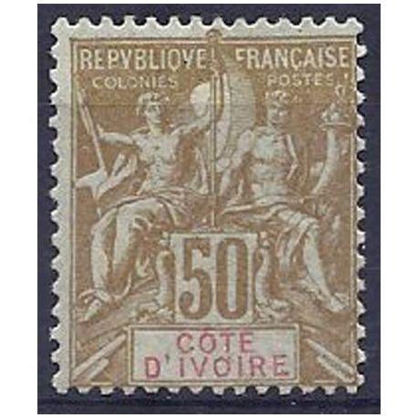 Timbre Cote d'Ivoire N° 17 neuf avec charnière