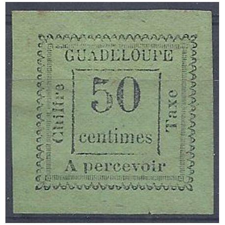 Timbre taxe Guadeloupe N° 12 avec charnière