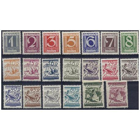 Timbre Autriche de 1925 N° 331 à 350 **/*