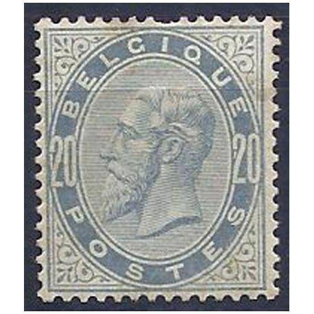 Timbre Belgique N° 39 avec charnière