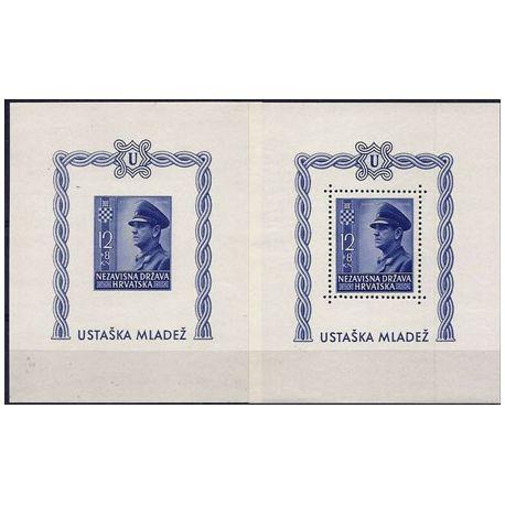 Bloc timbre Croatie 1943 N° 6 neufs sans charnière