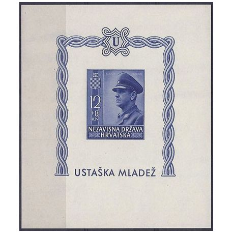 Bloc timbre Croatie N° 6 non dentelé neuf **