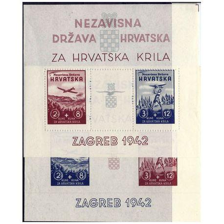 Bloc timbre Croatie N° 1 et 2 neufs sans charnière