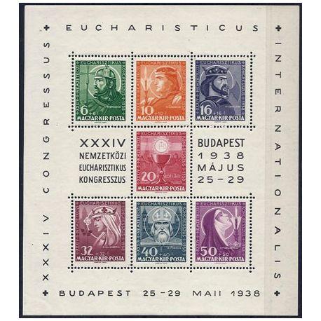 Bloc timbre Hongrie N° 2 neuf sans charnière 1938