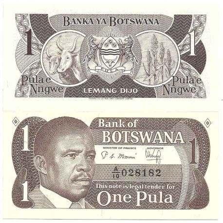 Billet de banque collection Botswana - PK N° 6 - 1 Pula