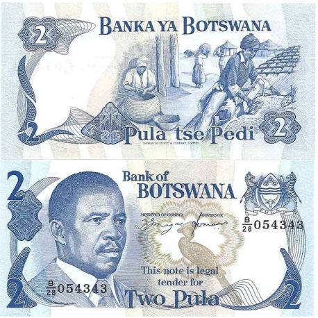 Billet de banque collection Botswana - PK N° 7 - 2 Pula