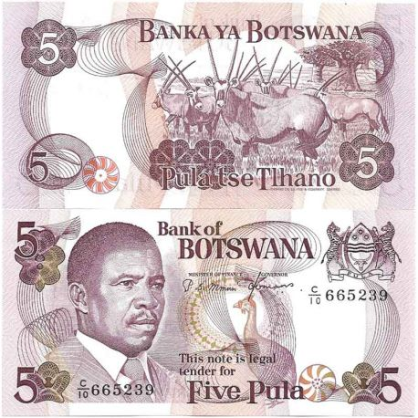 Billet de banque collection Botswana - PK N° 8 - 5 Pula