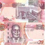 Precioso de billetes Botswana Pick número 31 - 20 Pula 2009