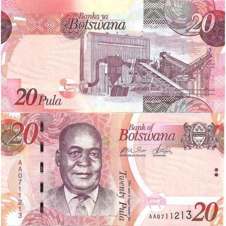 Billet de banque collection Botswana - PK N° 31 - 20 Pula