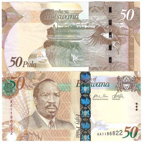 Billet de banque collection Botswana - PK N° 32 - 50 Pula