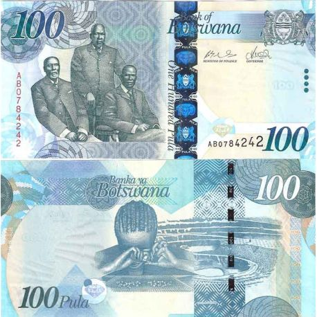 Billet de banque collection Botswana - PK N° 33 - 100 Pula