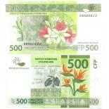 Los billetes de banco Polinesia Pick número 5 - 500 FRANC 2013