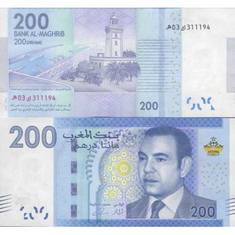 Billet de banque collection Maroc - PK N° 999 - 200 Dirhams