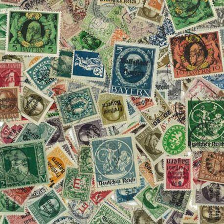 Bayern - 25 verschiedene Briefmarken