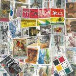Sammlung gestempelter Briefmarken Belgien