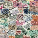 Briefmarkenensammlung Belgien gestempelte Postpakete