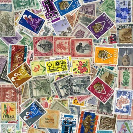 Collection de timbres Belgique Colonies Avt 61 oblitérés