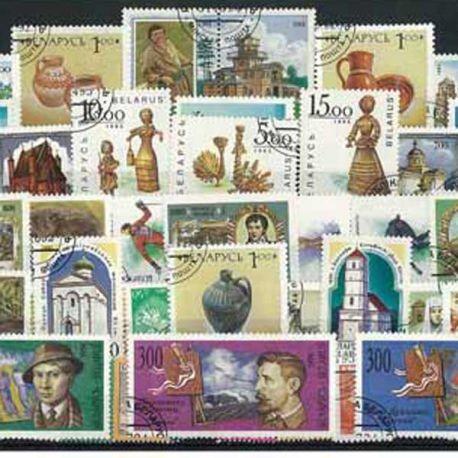 Bielorussie - 25 timbres différents