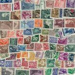 Sammlung gestempelter Briefmarken Böhmen und Mähren
