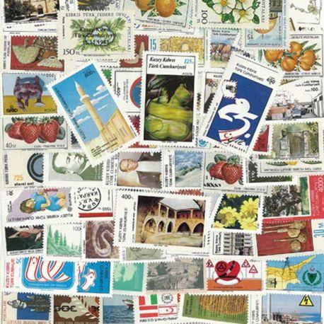 Zypern Türkisch - 25 verschiedene Briefmarken