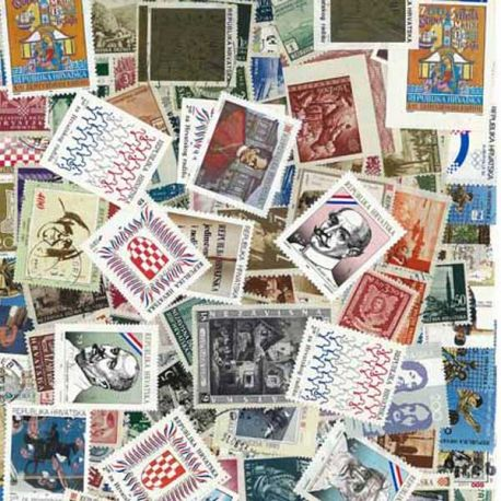 Croatie - 25 timbres différents
