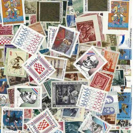 Kroatien - 25 verschiedene Briefmarken