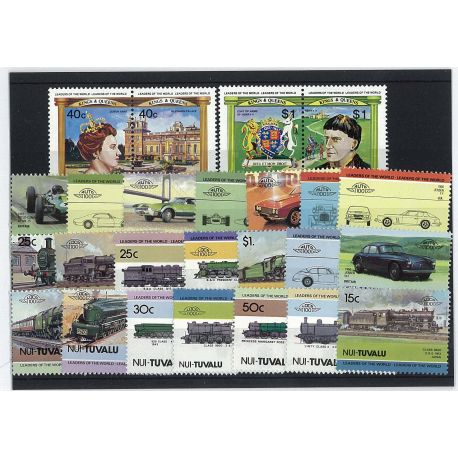 Nui - 25 different stamps