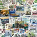Sammlung gestempelter färöischer Briefmarken