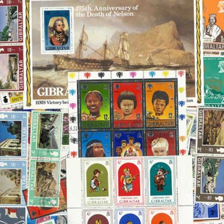 Collection de timbres Gibraltar oblitérés