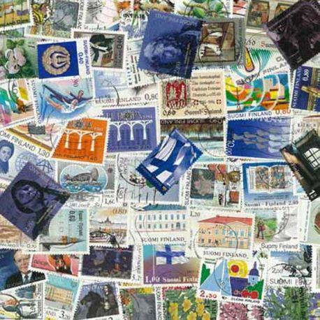 Finlande - 100 timbres différents