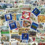Insel man-Sammlung gestempelter Briefmarken