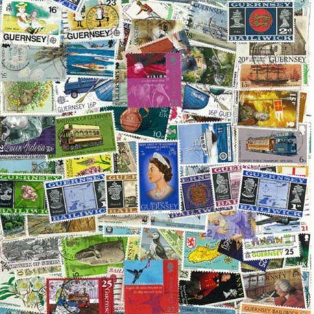 Collection de timbres Guernesey oblitérés