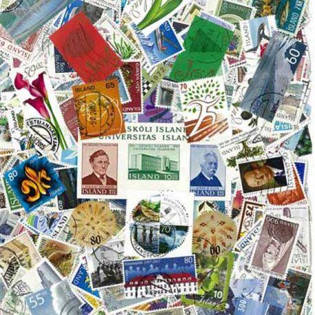 Island - 25 verschiedene Briefmarken