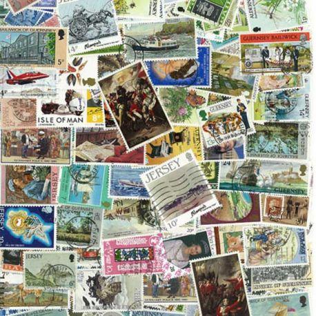 Collection de timbres Jersey oblitérés
