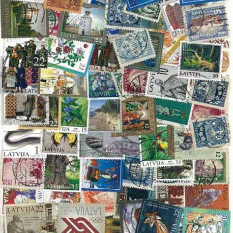 Lettland - 25 verschiedene Briefmarken