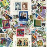 Sammlung gestempelter Briefmarken Liechtenstein