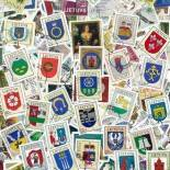 Used stamp collection Lithuania