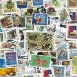 Sammlung gestempelter Briefmarken die Moldau